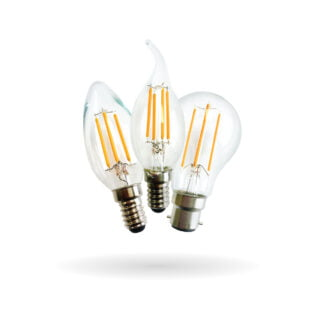 SYNERJI LED Candle and GLS Filament Lamps